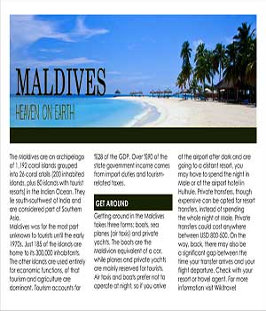 link to Maldives Interactive Document project